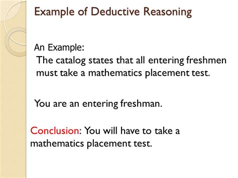 deductive and inductive reasoning ppt video online download