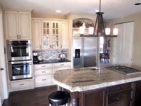 Cream painted cabinets with glaze traditional kitchen st louis