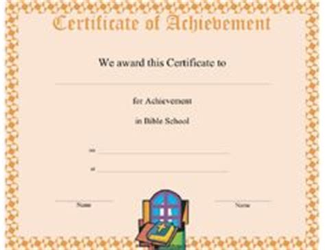 free bible school certificate templates images