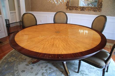 Custom American Made 7ft Round Satinwood Mahogany Dining Custom Dining Room Table