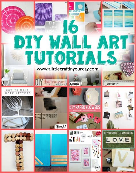 diy decorations crafts 16 diy wall tutorials a craft in your day