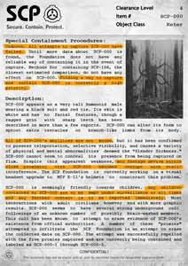 scp 000 document the slenderman by professornature on