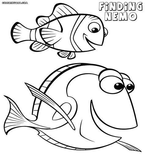 coloring pages nemo and dory finding nemo dory coloring pages coloring home