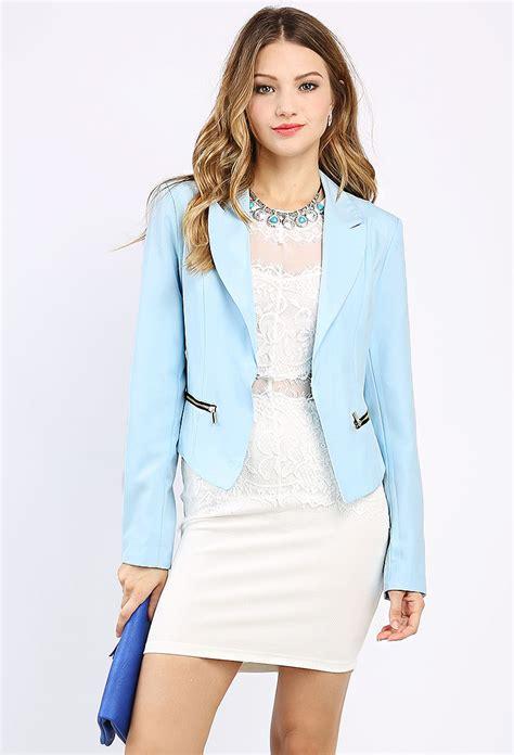 Jaket Zipper zipper detail jacket shop blazers at papaya clothing