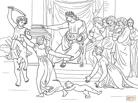 coloring page king solomon judgment of solomon coloring page free printable