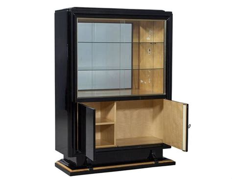 black high gloss deco cabinet for sale at 1stdibs
