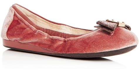 Flatshoes Tali Brand Styves lyst cole haan s tali velvet bow ballet flats