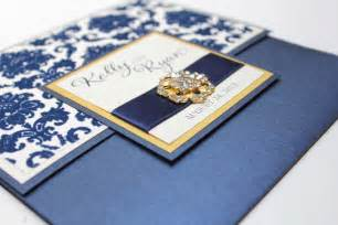blue and gold wedding invitations blue and gold wedding invitation idea sang maestro