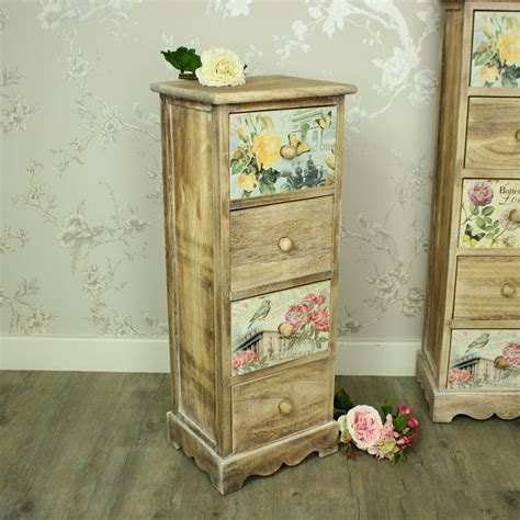 Floral Chest Of Drawers by Floral 4 Drawer Tallboy Chest Of Drawers Shabby Vintage