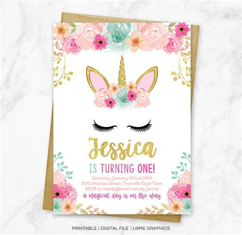 unicorn birthday invitation unicorn floral birthday invitation unicorn unicorn birthday invitation magical unicorn invitation floral unicorn invitation unicorn