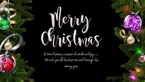 merry christmas wishes greeting card message template postermywall