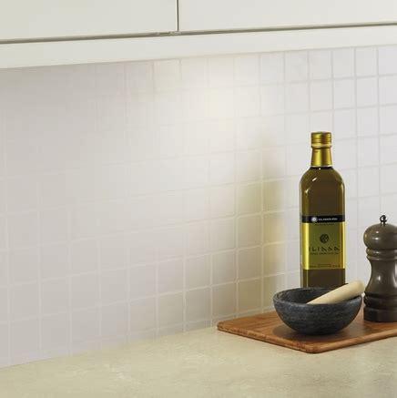 White Tile Effect backboard   Kitchen worktop backboards