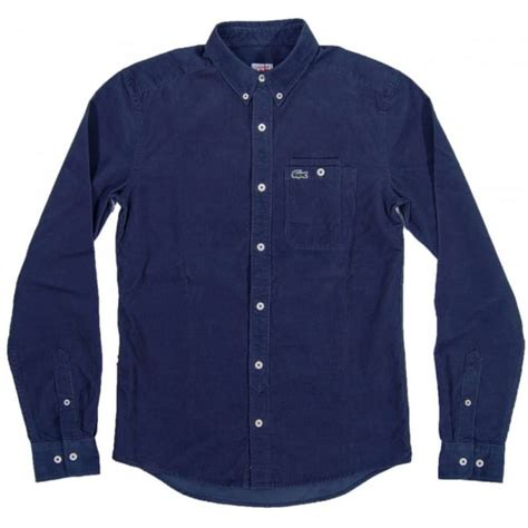 Corde Shirt lacoste l ve ch5222 cord shirt navy mens shirts from