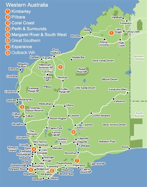 map of western australia perth australia map images