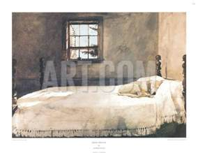 master bedroom print by andrew wyeth at