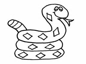 snake coloring pages free children