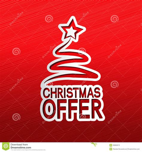 paper christmas tree sticker christmas offer stock