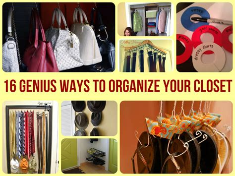 16 genius ways to organize your closet