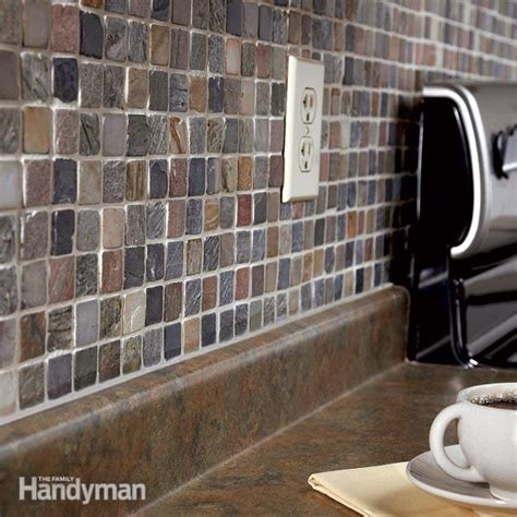 How To Install Mosaic Tile Backsplash In Kitchen | how to tile a backsplash the family handyman