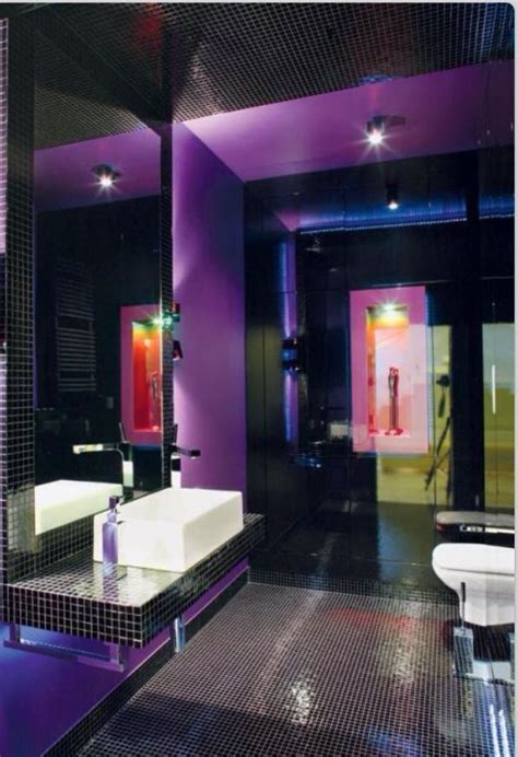 dark purple bathrooms purple and black bathrooms