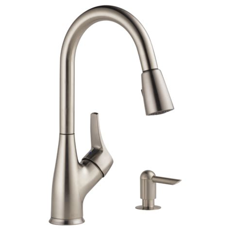 p88121lf sssd w single handle pull down kitchen faucet