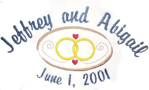 wedding rings embroidery design free wedding and anniversary embroidery designs