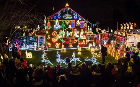 best way to set up christmas lights is this britain s most festive house 50 000 lights illuminate family home telegraph
