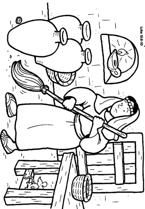 coloring pages jesus parables parable of the lost coin for coloring home