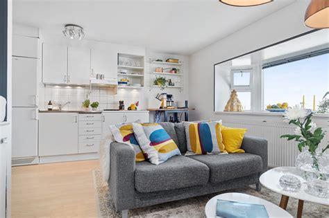 kitnet decorada cozinha americana apartamento que mostra a import 226 ncia das almofadas na
