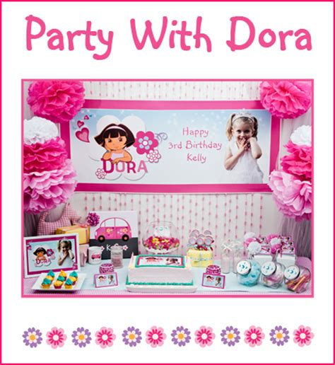 printable dora party decorations pink dora the explorer party little dance all things
