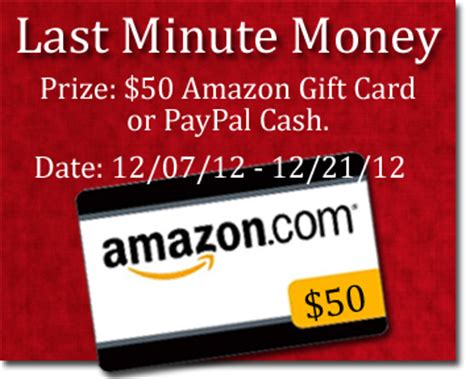 Amazon Gift Cards To Cash - last minute money 50 00 amazon gift card or paypal cash giveaway the megalomaniac