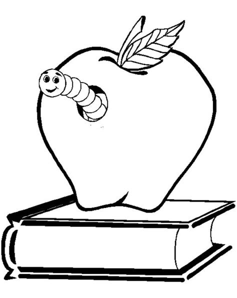 coloring pages book worm outlined book worm batch coloring