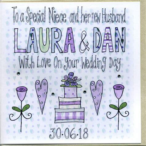 Wedding Card Nephew by Personalised Niece Or Nephew Wedding Card By Sowden