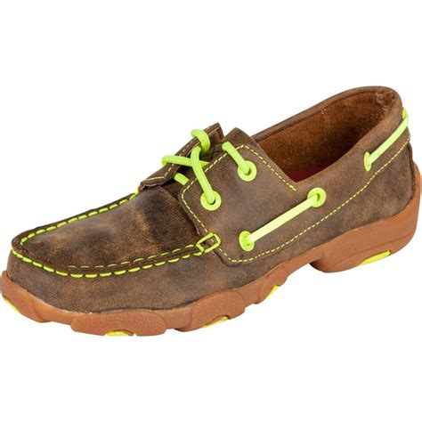 twisted x shoes for shop youth twisted x neon yellow bomber boat shoe