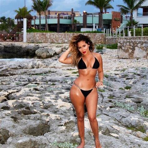 adrienne bailon body adrienne bailon flaunts her bikini body in mexico