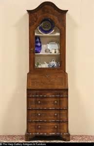 Antique Secretary Curio Cabinet Sold Narrow Vintage Secretary Desk Curio Display Top