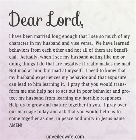 Character Letter For My Husband Prayer Of The Day When He Acts Like Me