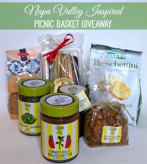 Picnic Basket Giveaway - napa valley inspired picnic basket giveaway