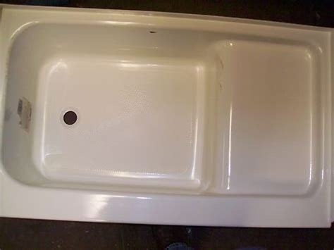 new rv trailer cer 40 quot step tub bath bathtub left drain