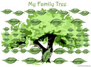family tree template family tree template large