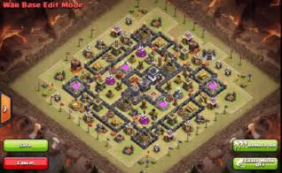 Latest top 5 town hall 9 war base layouts in clash of clans 2016