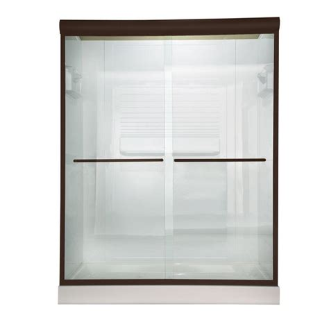 American Standard Euro 48 In X 70 In Semi Framed Bypass Standard Shower Doors