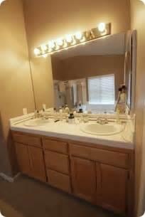 vanity light fixtures budget bathroom makeover linky centsational girl