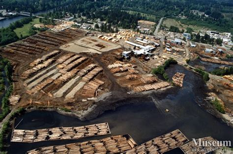 lumber mill aerial view  raven lumber operations