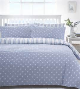 Blue And White Bed Set Blue White Spot Or Stripe Boys Bedding Bed Linen Duvet Quilt Bed Set Ebay
