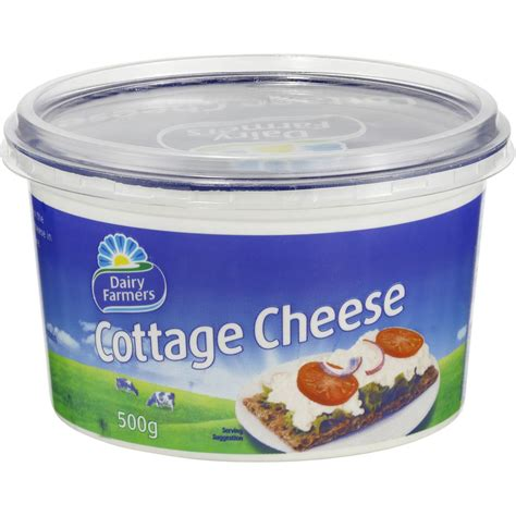 cottage cheese dairy farmers natural cottage cheese 500g woolworths