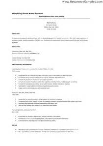 Resume Objectives Samples by Operating Room Nurse Resume Free Resume Templates