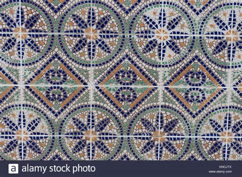 colorful tile up of a colorful mosaic tile wall with orange green