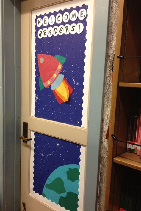 space themed door decorations space themed library door decor