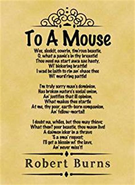 Wedding Quotes Robert Burns by A4 Size Parchment Poster Classic Poem Robert Burns To A
